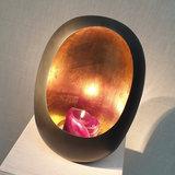 Egg Candle Holder Medium Zinc_