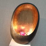 Egg Candle Holder Large Zinc_