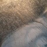 Throw Fake Mohair White Grey 130x170_