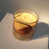 Scented Candle Amber Stained 'Love Story' Medium_