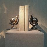 Boekensteun Globe Nikkel 17,5cm_