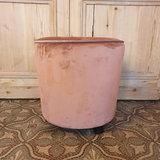 Pouf Velvet Royal Pink H45xD45_