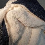 Throw Coton Blue/Sherpa 130x160_