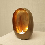 Egg Candle Holder Small Brass_