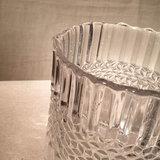 Candleholder Cylinder Antique Glass H12,5cm_