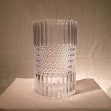 Candleholder Cylinder Antique Glass H20,5cm_