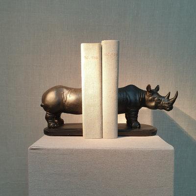 Boekensteun Rhinoceros Resin 30cm