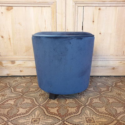 Pouf Velvet Royal Blue H45xD45