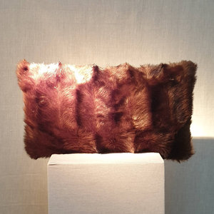 Cushion Fake Fur Mink 30x50