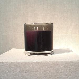 Scented Candle Black Organic 'Ebene' Medium