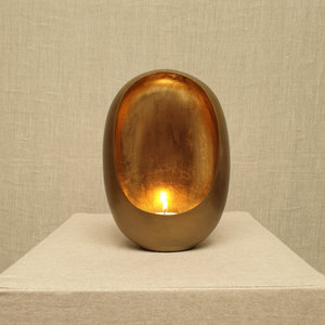 Egg Candle Holder Small Brass